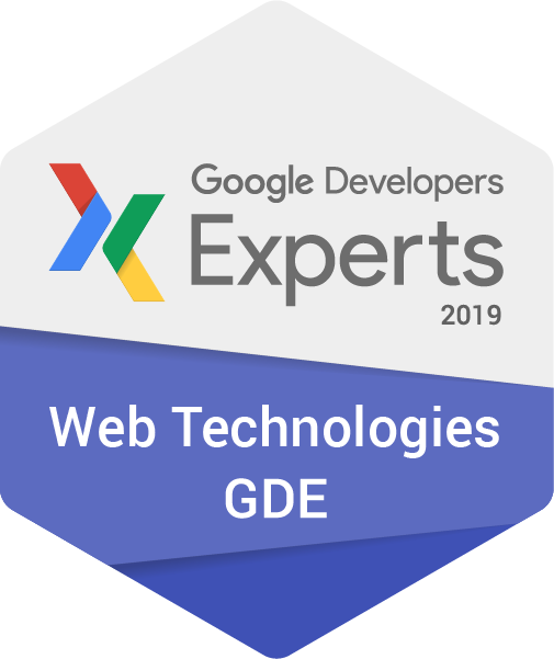 Google Developer Expert 2019 Web Technologies